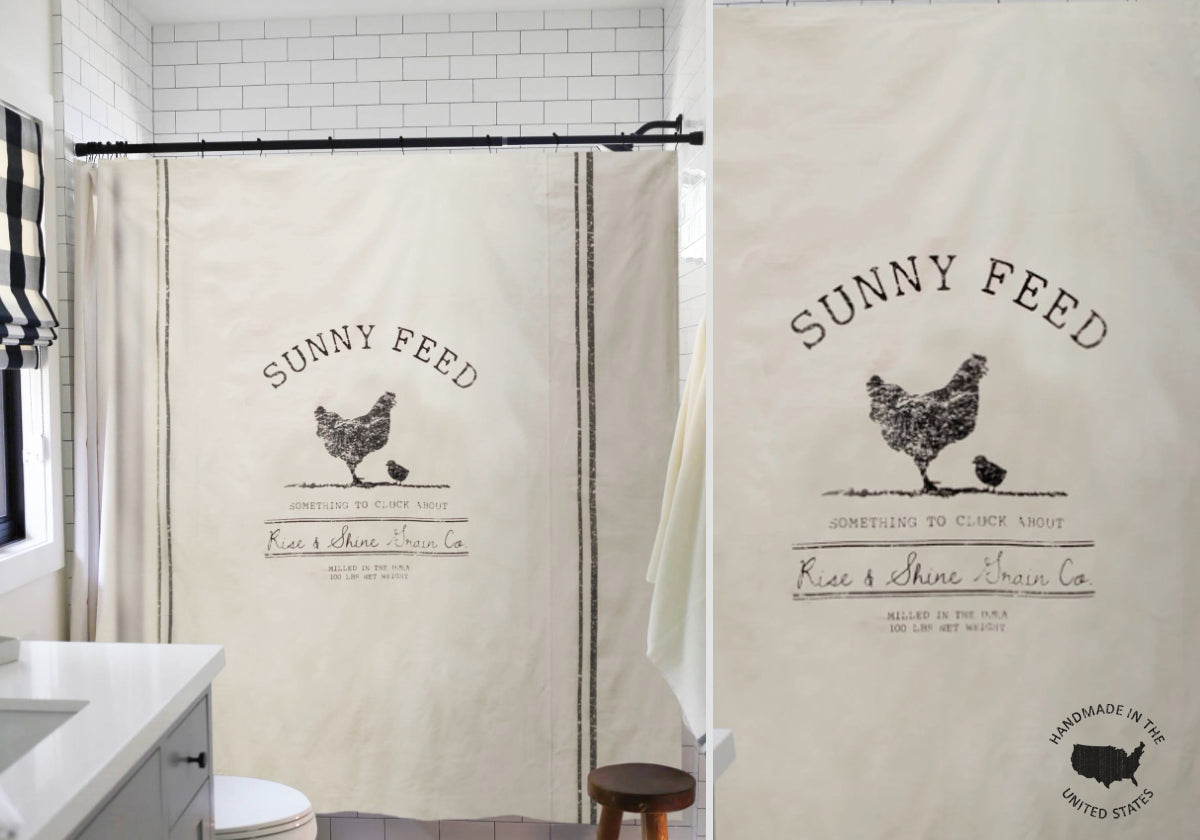 Farmhouse Chicken Shower Curtain