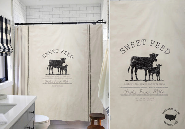 Farmhouse Cow Shower Curtain