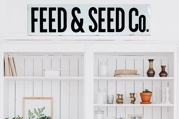 "Large 36"" Feed and Seed Co Sign"