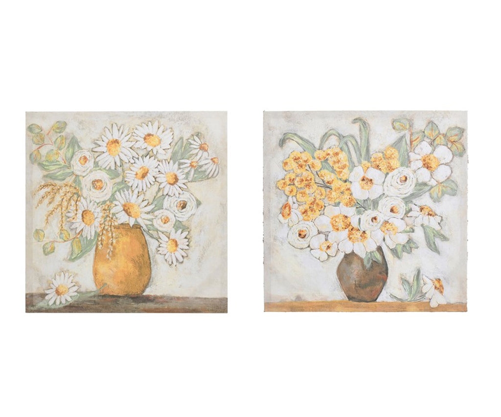 Flowers in a Vase Canvas Decor - Set of 2