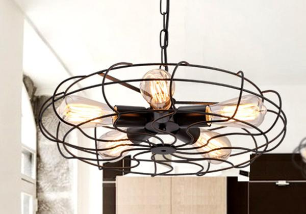 Metal Industrial Cafe Pendant Light