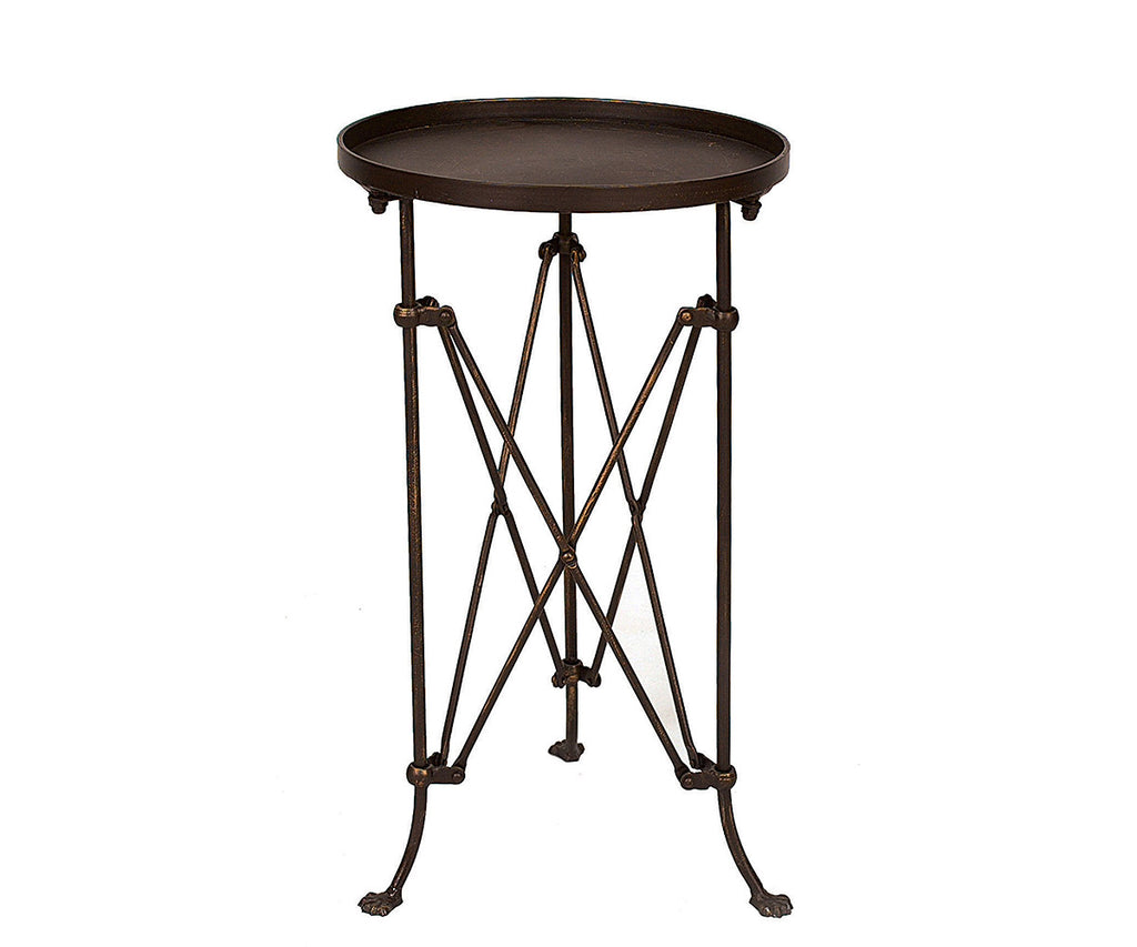 Industrial Metal Accent Table