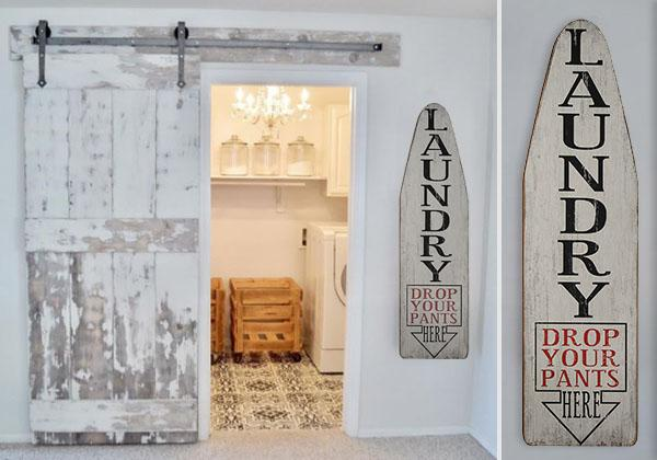 Large Wooden Laundry Room Sign