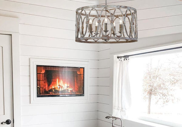 Le Mans French Inspired Metal Chandelier