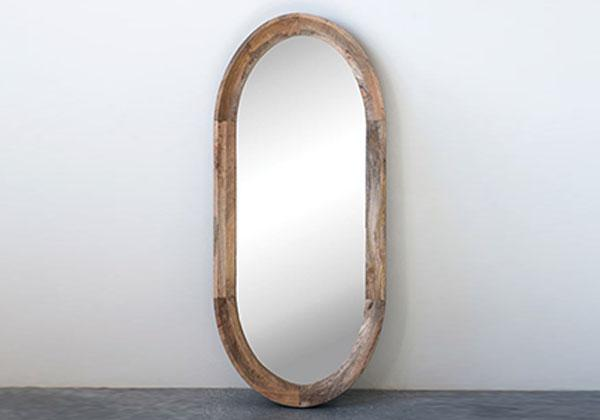 Oval Wooden Artemisia Mirror hang Vertically or Horizontally