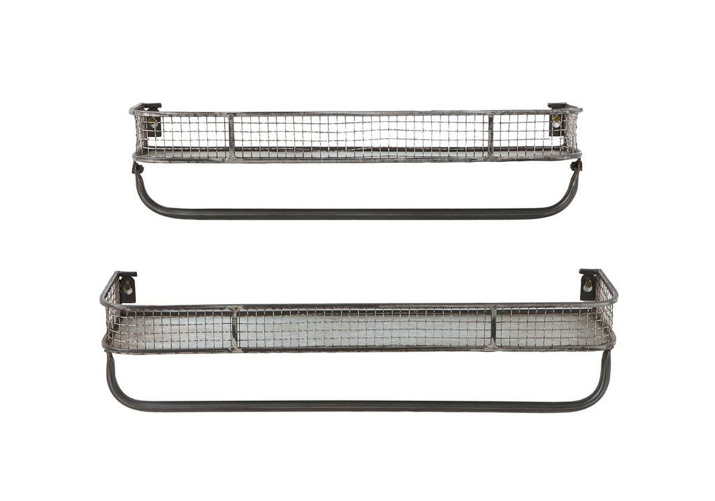 Metal Wire Wall Shelf Set of 2
