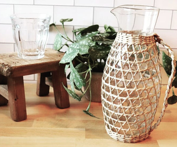 Woven Seagrass Pitcher