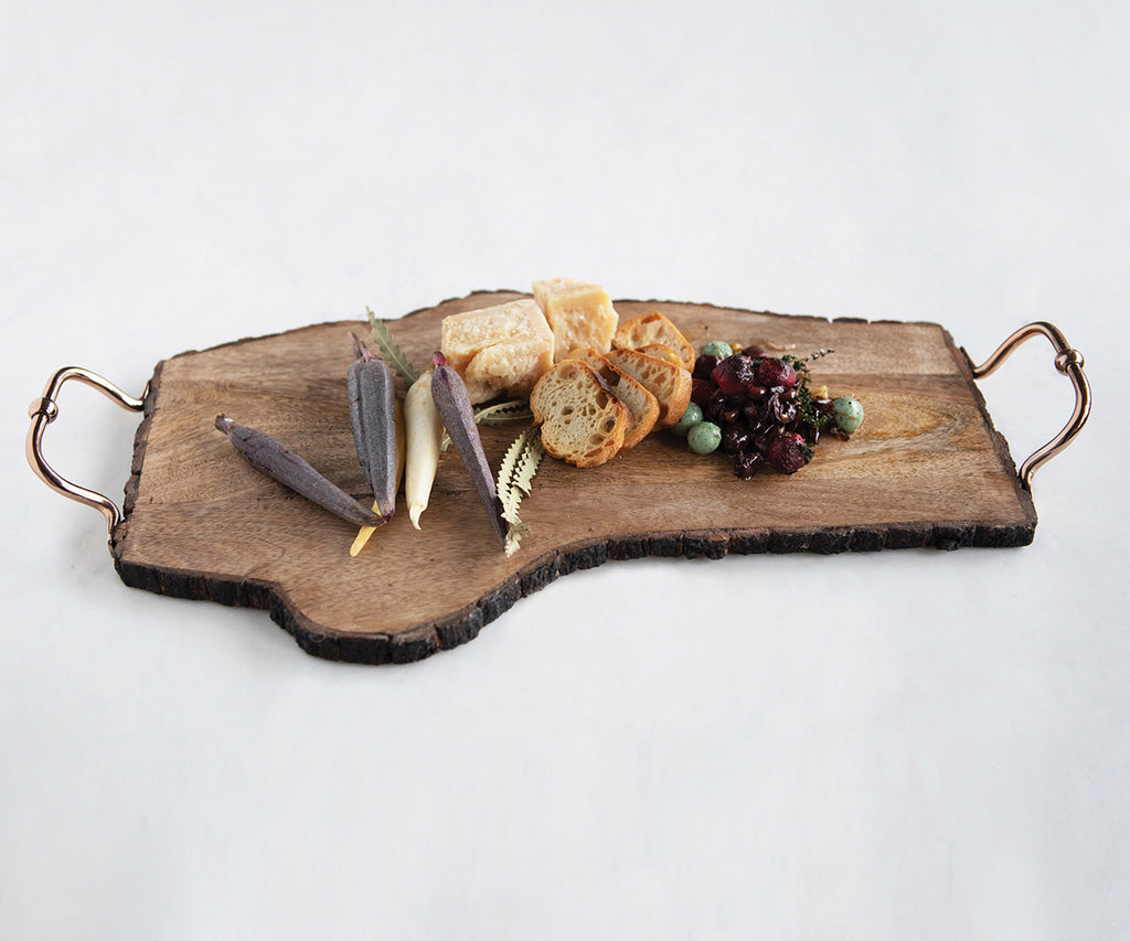 Raw Edge Wooden Serving Tray
