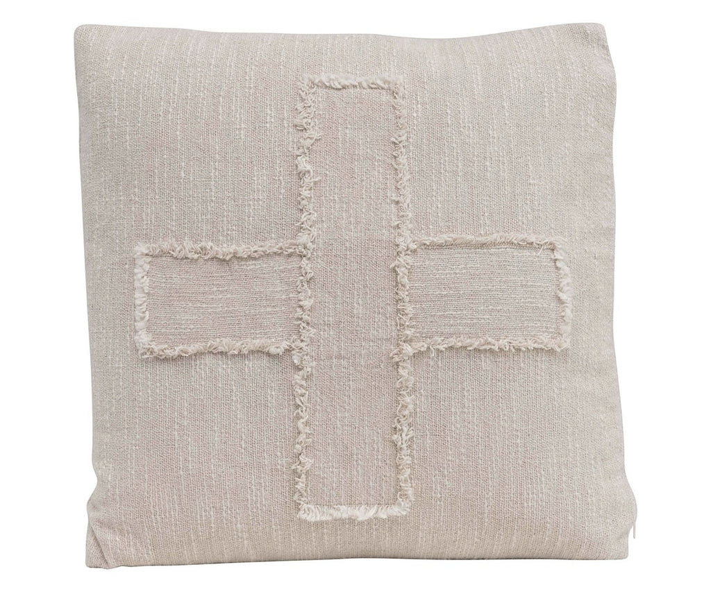 Embroidered Swiss Cross Pillow