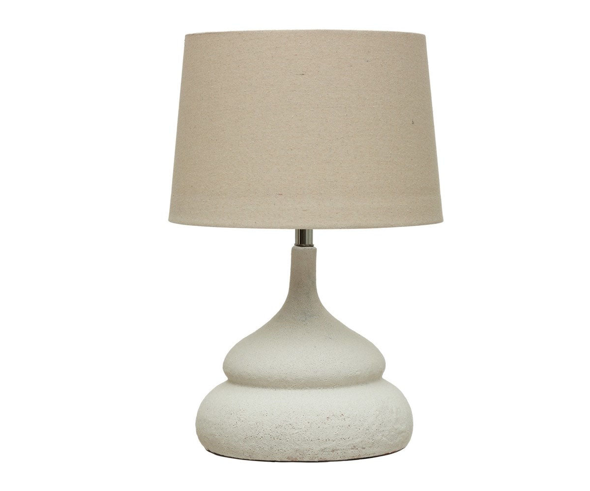White Terracotta Lamp