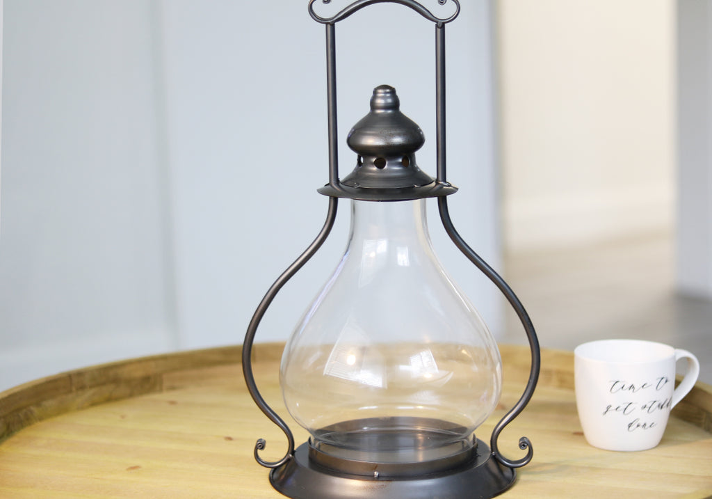 Dark Vintage Candle Lantern Lamp