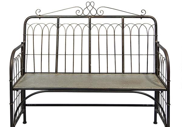 Vintage Metal entryway and porch bench