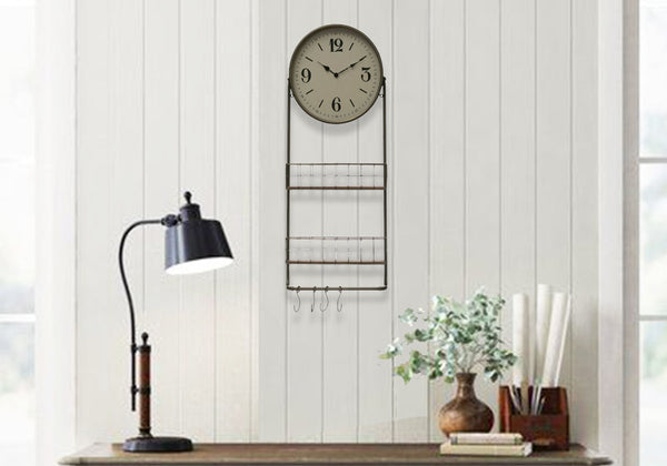 Vintage clock with produce baskets