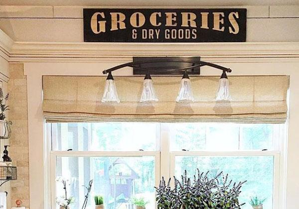 Large Wooden Grocery Kitchen Sign
