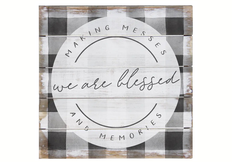 We are blessed wood sign