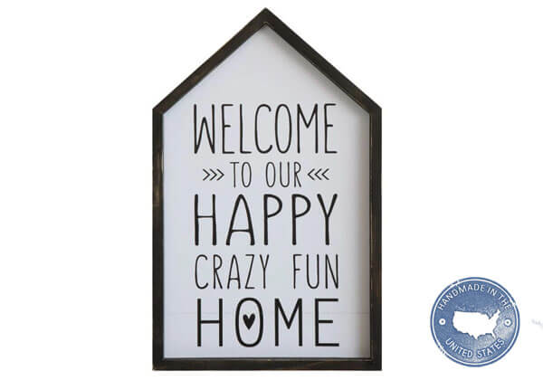 Wood Welcome to our Home Sign - Made in USA