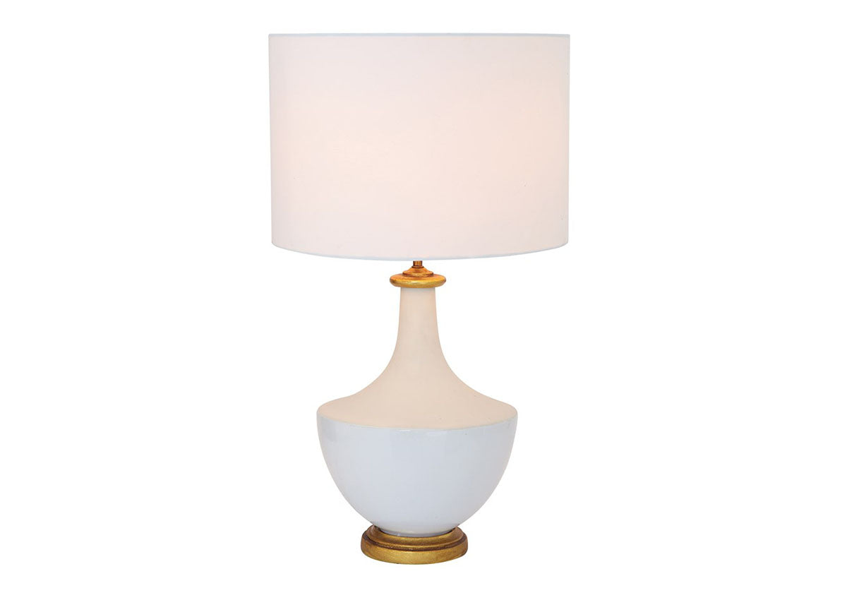 White and Gold Coastal Lamp