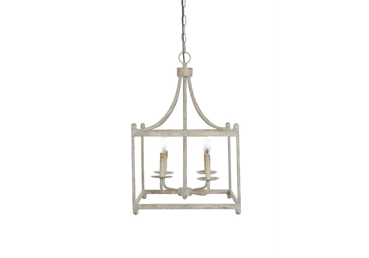 White Metal Industrial Pendant Light Chandelier