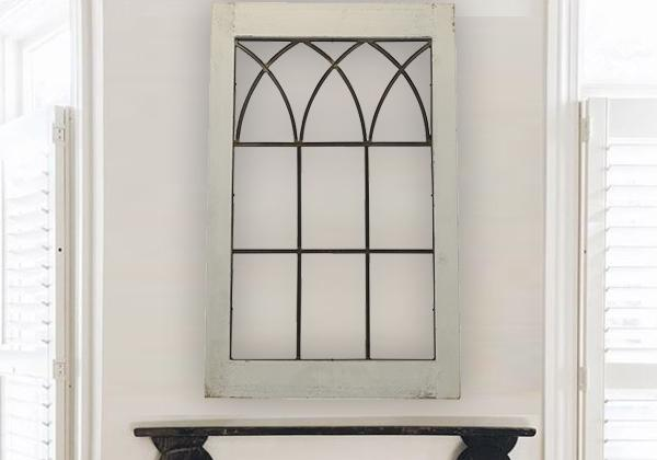 Distressed French Window Frame Decor – We Heart Decor