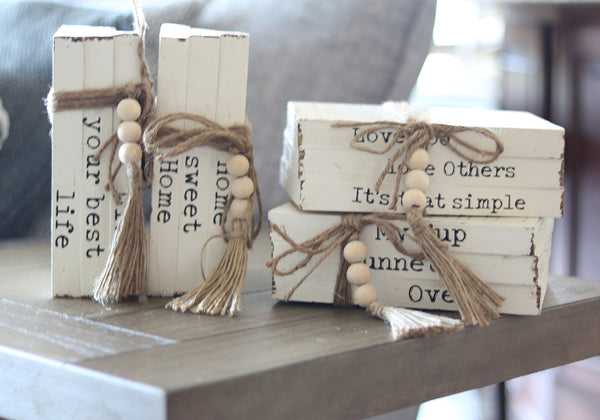Small Book Stack Decor