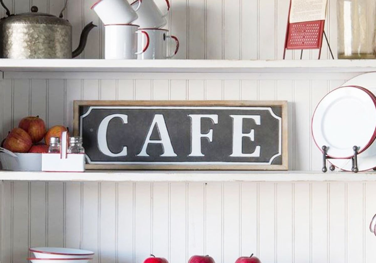 Framed Cafe Sign