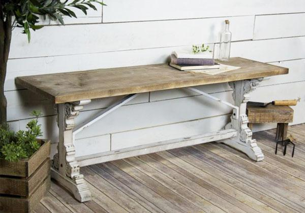French Inspired antique wood bench