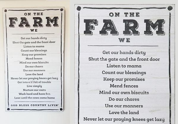 Wooden On The Farm Vintage Sign