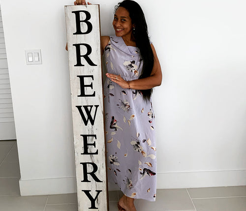 Rustic Brewery Sign