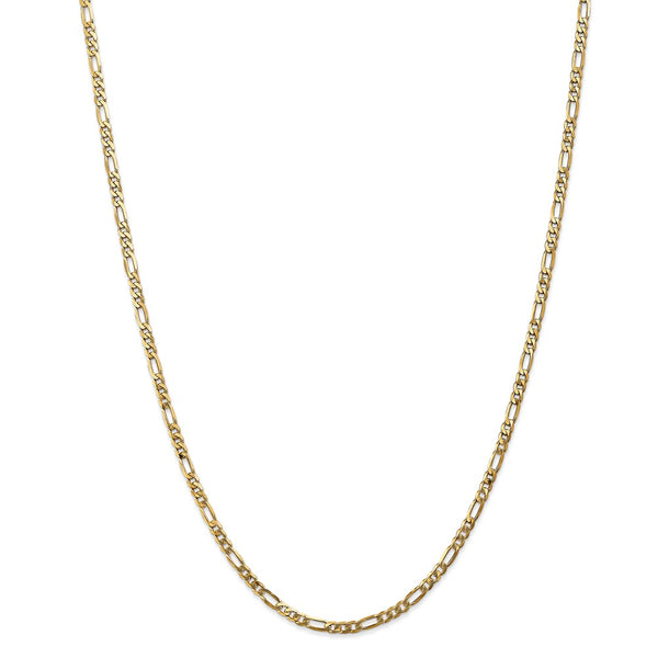 1234-20 Leslies 14k 3.25mm Flat Figaro Chain 20 inches