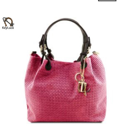 TL BAG (TL141529) Medium hand bag with gold accessories