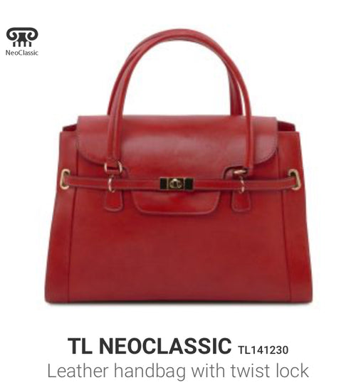 TL NEOCLASSIC (TL141230) Leather handbag with twist lock