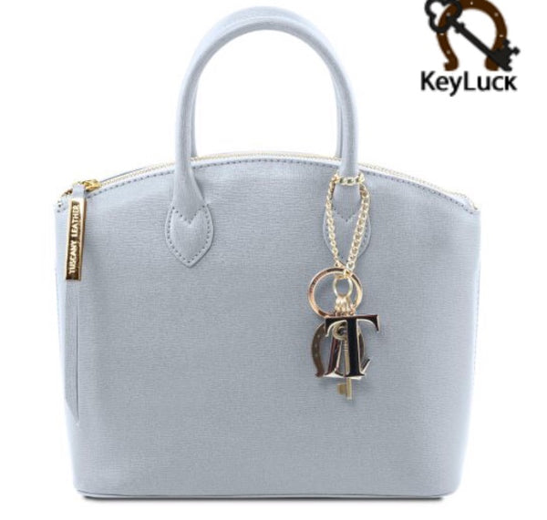 TL KEYLUCK Saffiano leather tote
