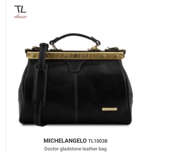 MICHELANGELO (TL10038) Doctor gladstone leather bag