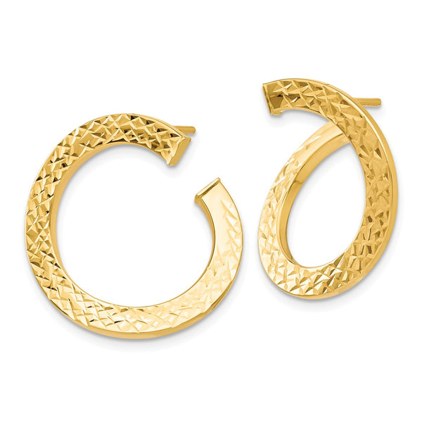 LE1180  Leslie's 14k Fancy Earrings 20 MM length and width