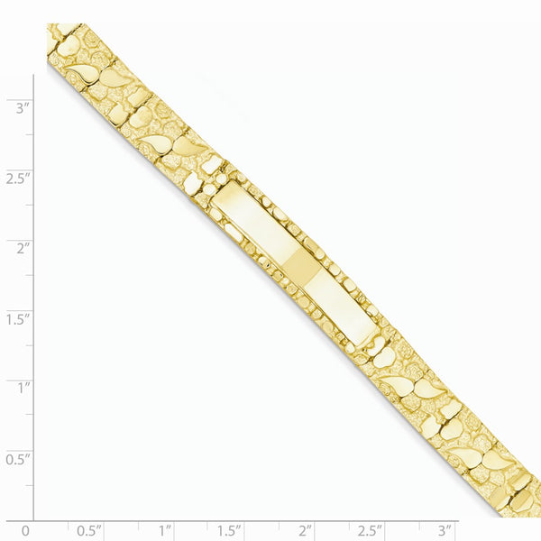 NUGID10-8 14k 10.0mm Nugget ID Bracelet
