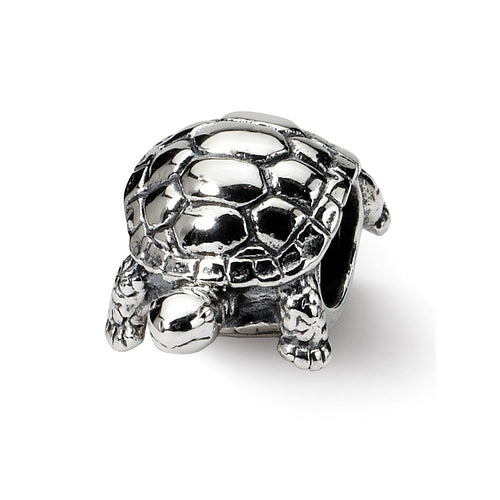 QRS1224 Sterling Silver Reflections Turtle Bead