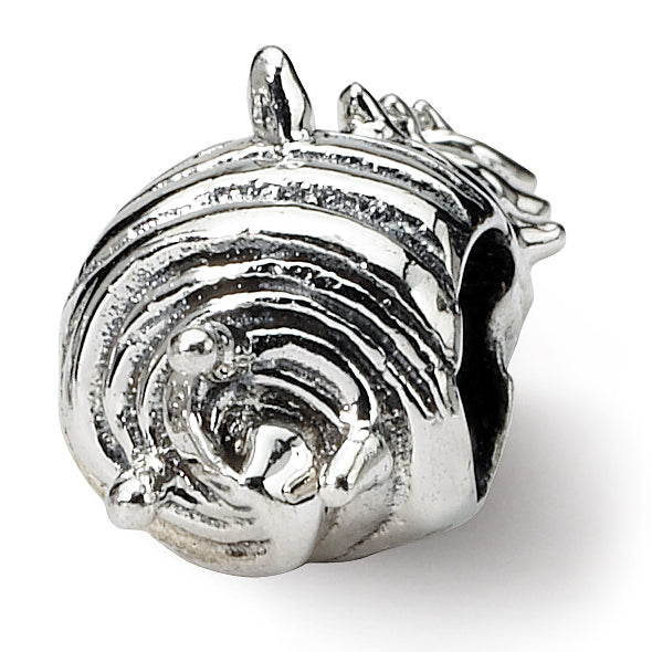QRS1225 Sterling Silver Reflections Shell Bead