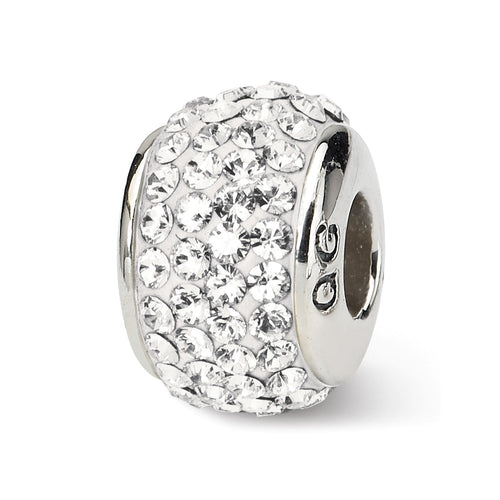 QRS1252APR Sterling Silver Reflections April Full Swarovski Crystal Bead