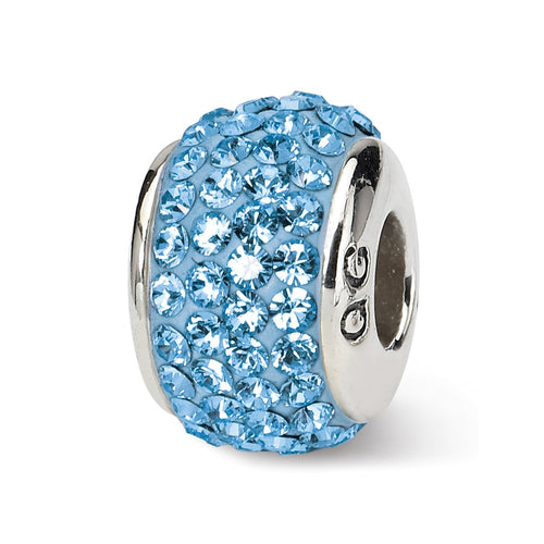 QRS1252MAR Sterling Silver Reflections March Full Swarovski Crystal Bead