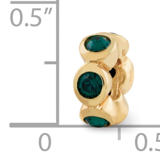 QRS1262GPMAY Sterling Silver Gold-plated Reflections May Swarovski Crystal Bead