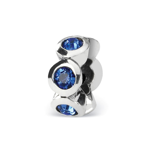 QRS1262SEP Sterling Silver Reflections Sept Swarovski Crystal Birthstone Bead