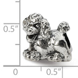 QRS1278 Sterling Silver Reflections Poodle Bead