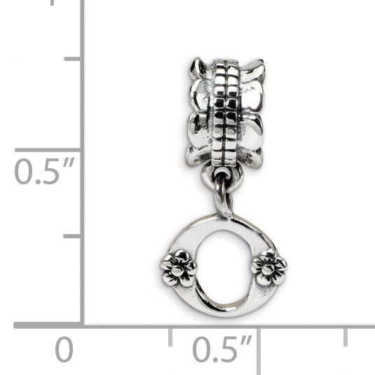 QRS1400O Sterling Silver Reflections Letter O Dangle Bead