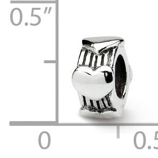 QRS192 Sterling Silver Reflections Heart Bead