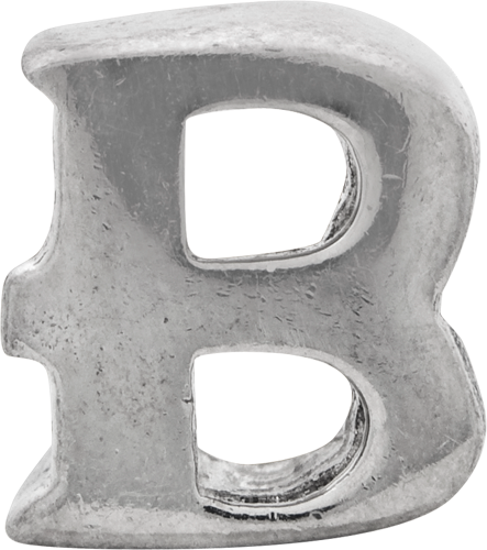 QRS468B Sterling Silver Reflections Letter B Bead