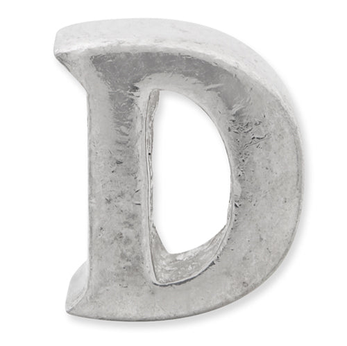 "QRS468D 925 Silver Reflection Bead ""D"""