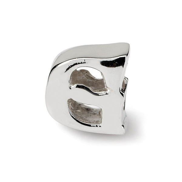 "QRS468G 925 Sterling Silver ""G"" Bead"
