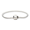 QRS985-9 Sterling Silver Reflections Hinged Clasp Bead Bracelet