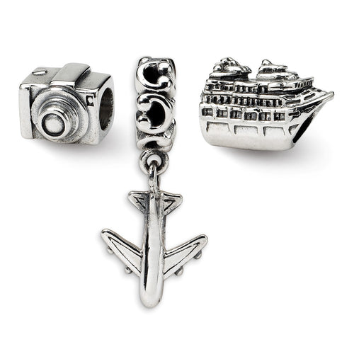 QRSET41 925 Sterling Silver Reflections Travel Bug Boxed Bead Set