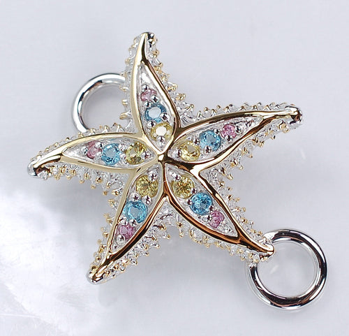 Silver Star FishTopper with semi Precious stones